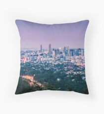 View of Brisbane City from Mount Coot-tha Throw Pillow