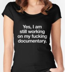 The most essential gear for the documentary filmmaker Women's Fitted Scoop T-Shirt