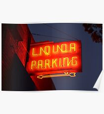 Vintage Neon Liquor Sign  Poster
