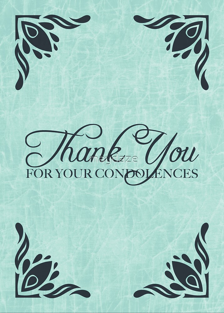 thank you for your condolences by maydaze