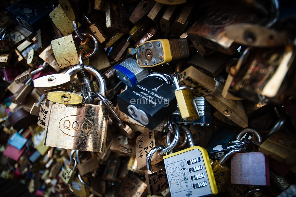 Love Locks at Pont des Arts by emilyvg