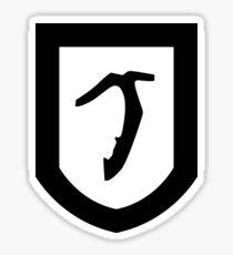 Pickaxe Shield Sticker