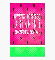 Drinking Watermelon Photographic Print