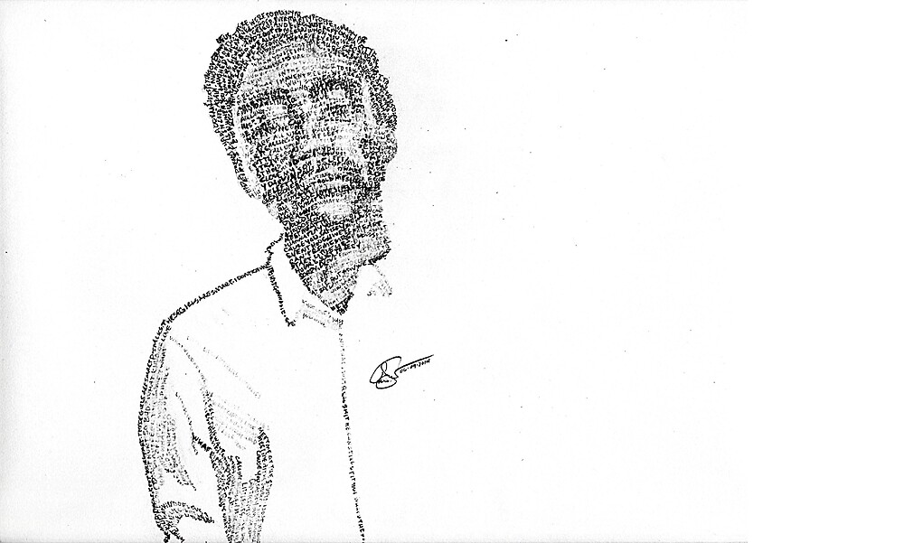 Childish Gambino Lyric Portrait by chritopherchang