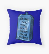 Doctor Who -TARDIS Dream Quote Throw Pillow