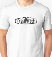 TrainWreck Black on White Unisex T-Shirt