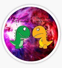 Dinosaur Love Quote Sticker