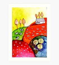 Colourful Countryside Art Print