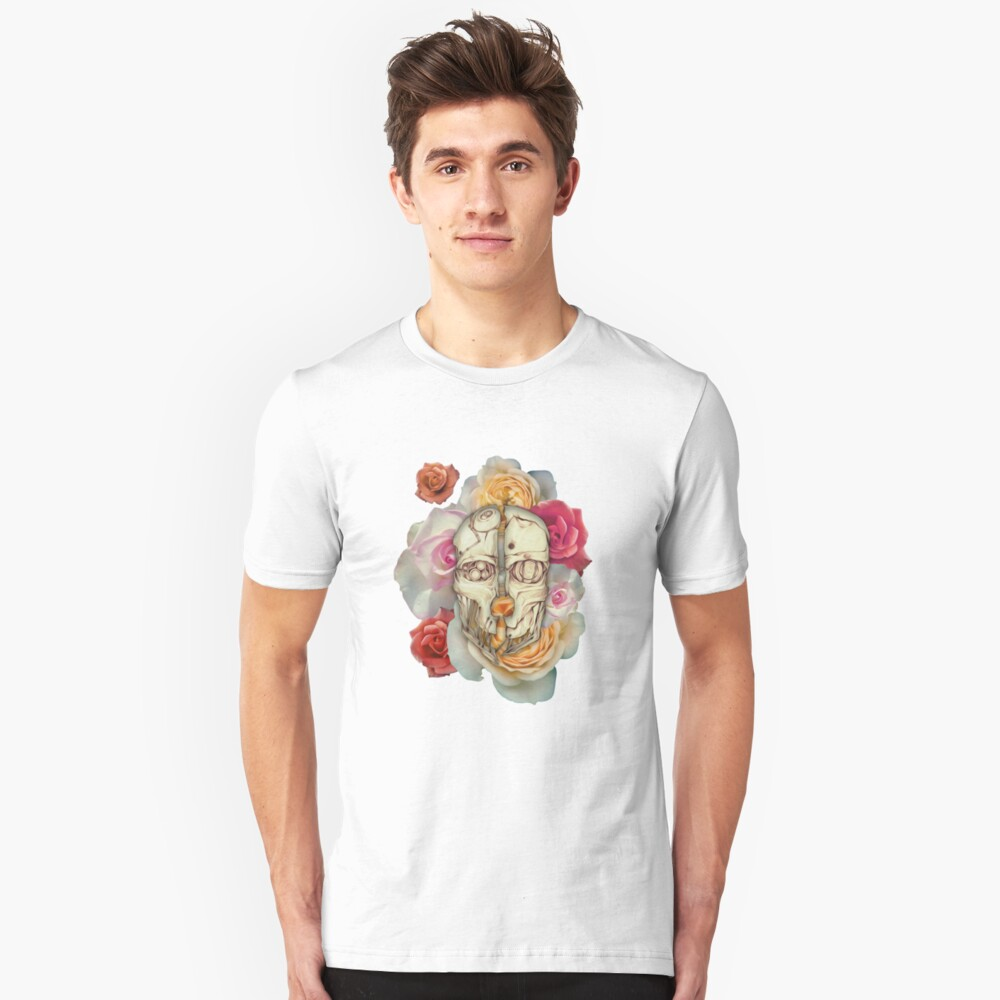 Floral Mask of Corvo Unisex T-Shirt Front