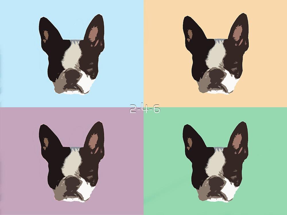 Boston Terrier Pop Art by 2-4-6