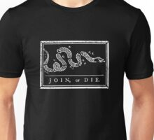 Join or Die - Black and White Unisex T-Shirt