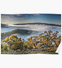 Sunrise at Kissing Point,Hill End. Poster