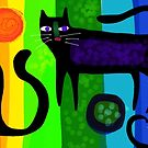 Colourful cats made with paper 53 by Karin Zeller