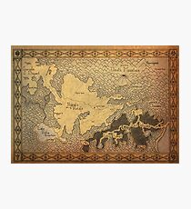 Zelda - A map of Hyrule Photographic Print