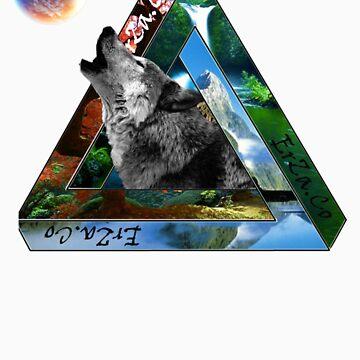 wolf logo tee by ezrajmorgan