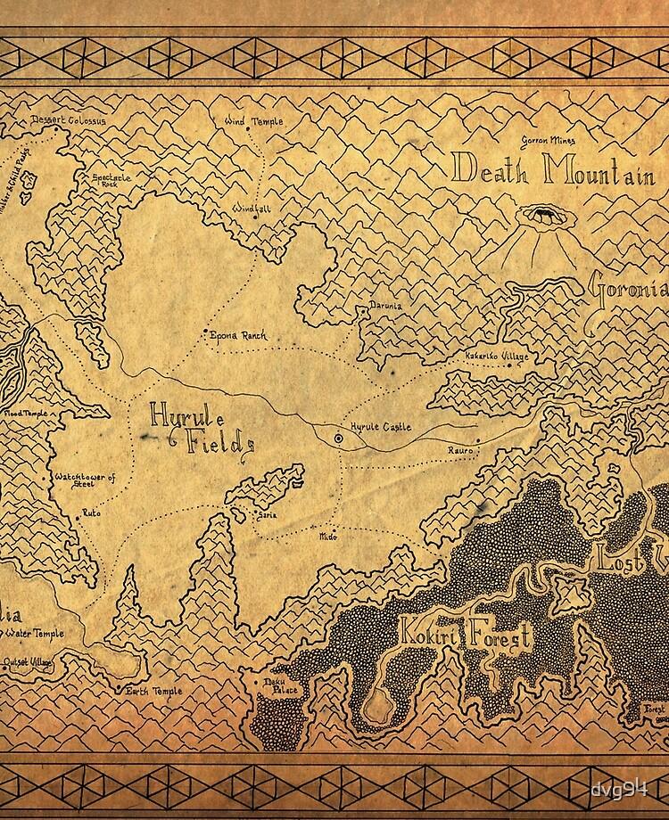 Zelda - map of Hyrule (plain old)   iPad Case & Skin on