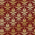 Damask Glitter Gold Classic Elegant Rosewood by Beverly Claire Kaiya