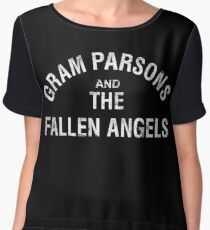 Gram Parsons and the Fallen Angels (white - distressed) Chiffon Top