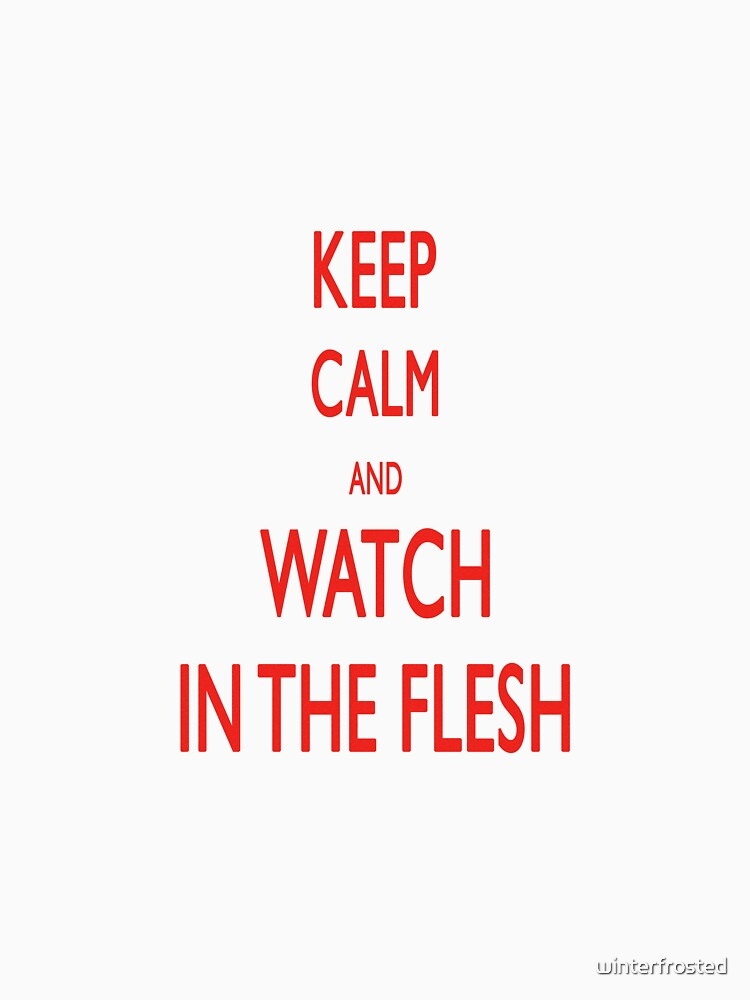 keep calm and watch ITF by winterfrosted