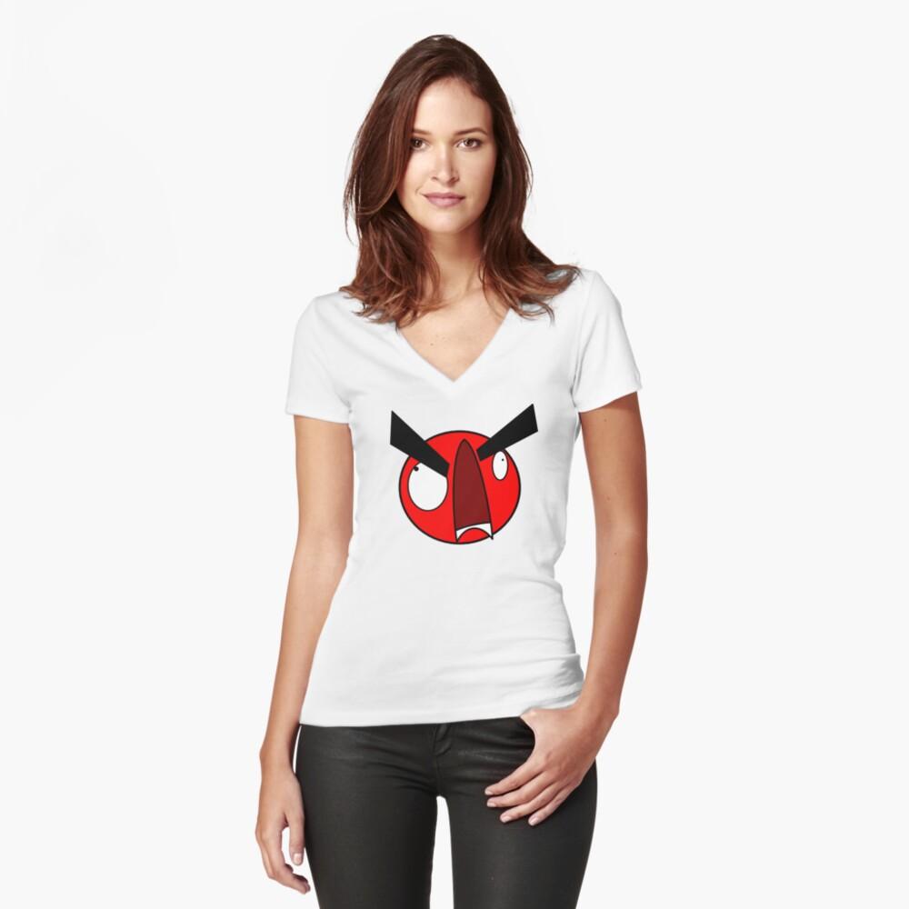 AAAAAAAAAA Women's Fitted V-Neck T-Shirt Front