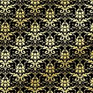 Damask Glitter Gold Classic Elegant Black by Beverly Claire Kaiya