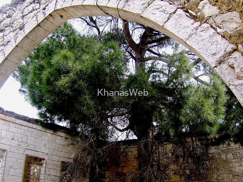 Ruin & Tree by KhanasWeb