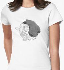 Sometimes you eat the bear... Tailliertes T-Shirt für Frauen