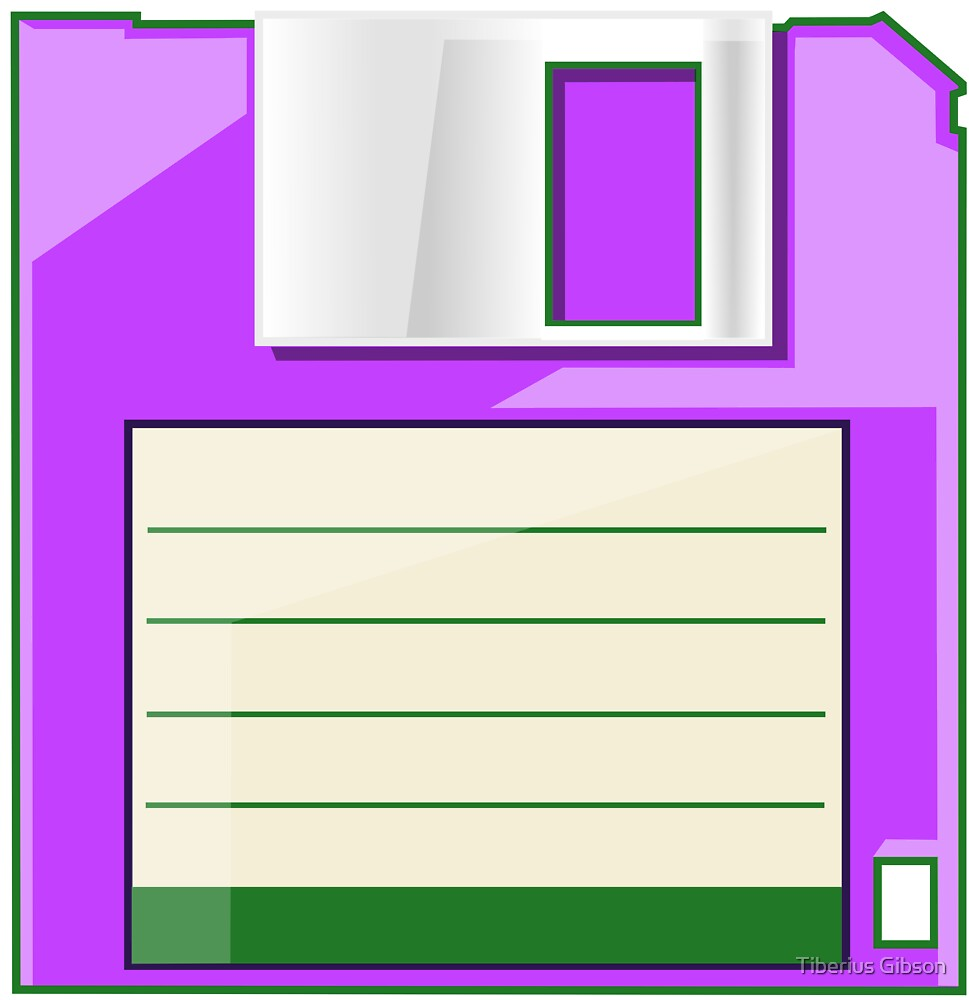 Purple Floppy by Tiberius Gibson
