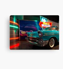 Chevy Drive In Canvas Print