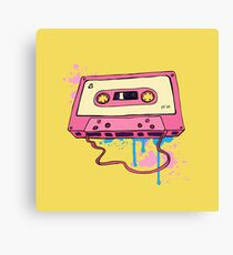 Retro cassette tape. Canvas Print