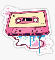 Retro cassette tape. Sticker