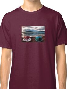 Hulls of Boats And Marmaris Winter Seascape Classic T-Shirt