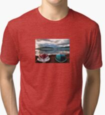 Hulls of Boats And Marmaris Winter Seascape Tri-blend T-Shirt