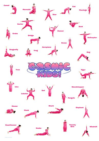 Cosmic Kids Posture Poster by Cosmic Kids