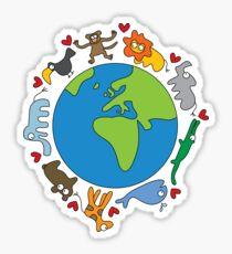 We Love Our Planet | Animals Around The World Sticker