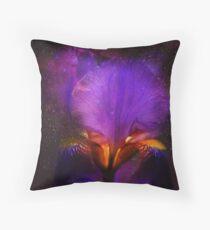Risen from Stars. Cosmic Iris Throw Pillow