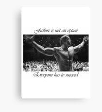 Arnold motivation Canvas Print