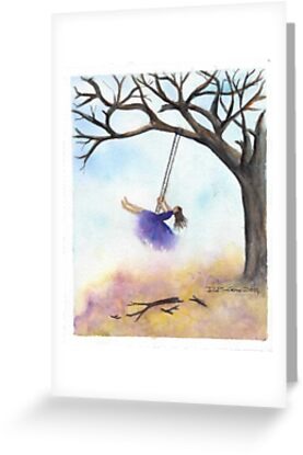 Swing Into Fall 2014 by dicoxwatercolor