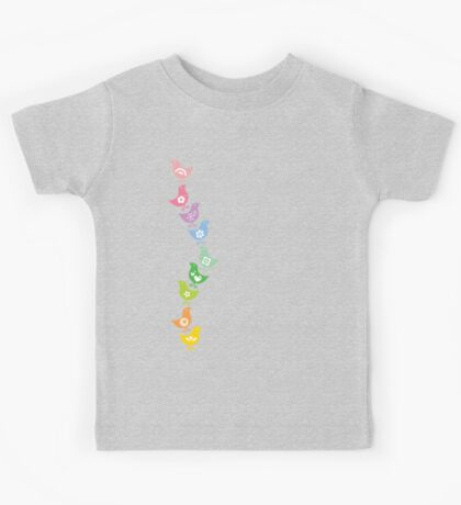 Balancing Retro Rainbow Chicks Kids Clothes