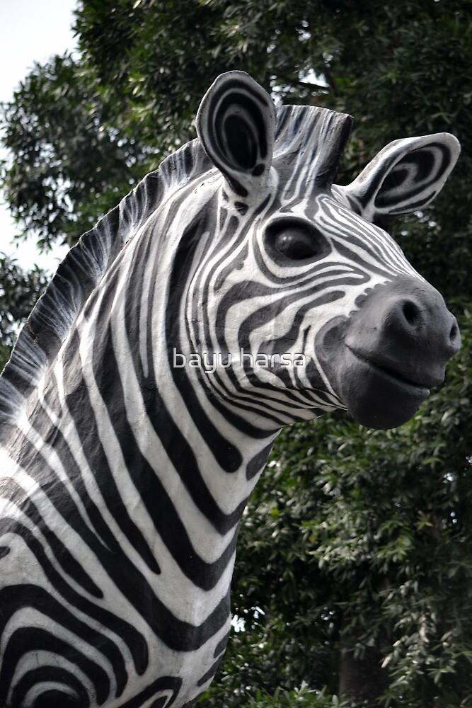 zebra ornament by bayu harsa