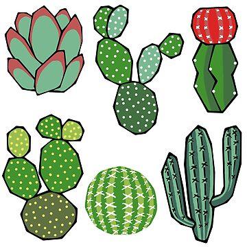 Cacti by KellyJadeART