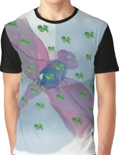 FOUR LEAF CLOVER DRAGONFLY Graphic T-Shirt