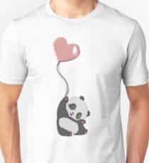 Panda And Balloon Unisex T-Shirt