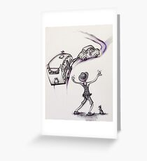 Left...no no....bit to the right Greeting Card