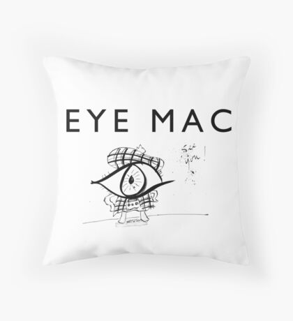 Eye Mac Throw Pillow
