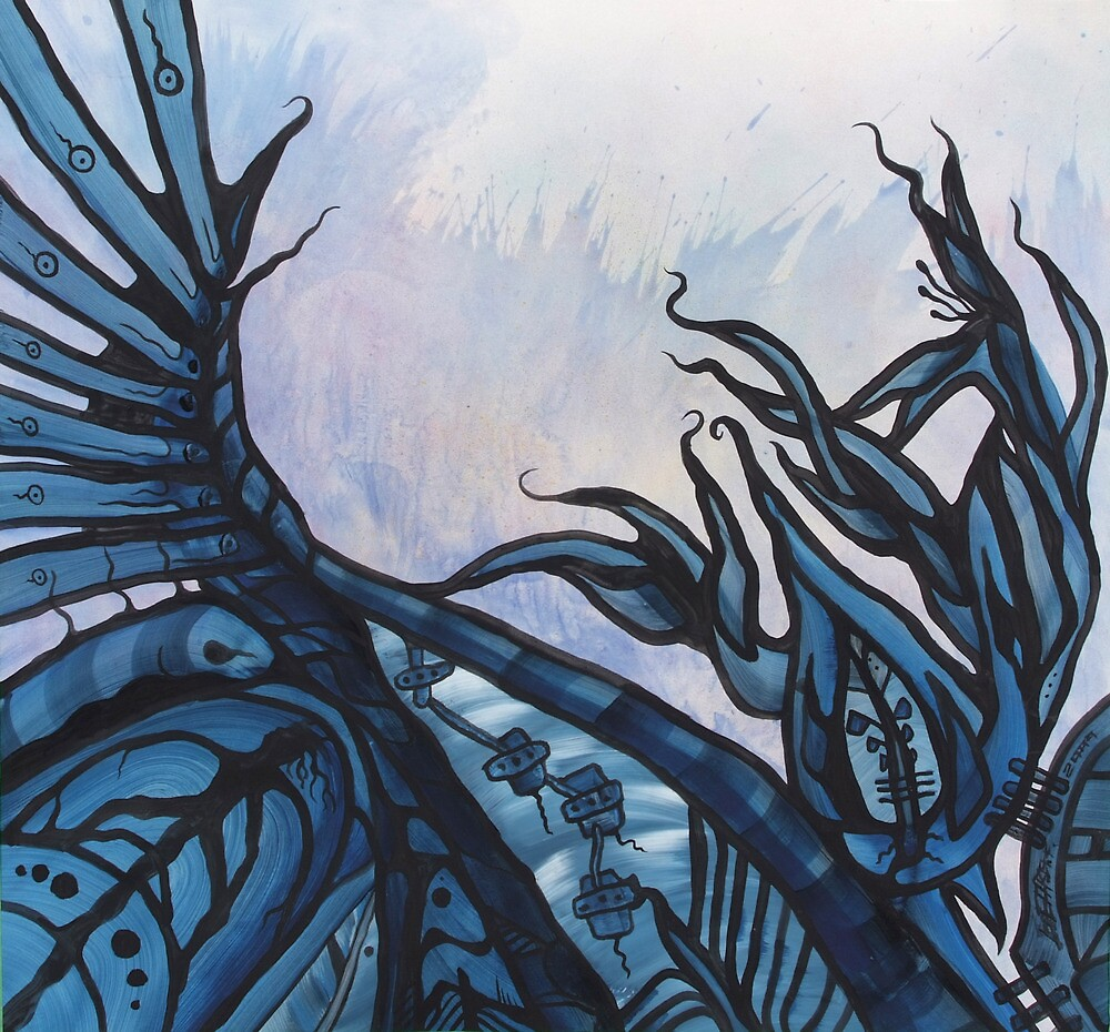 BLUE GARDEN by artbygeorgemb