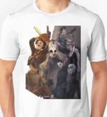 Terror Team - Ash Williams, PinHead, Leatherface, Freddy Krueger, Jason Voorhees, Ella, Micheal Myers Unisex T-Shirt