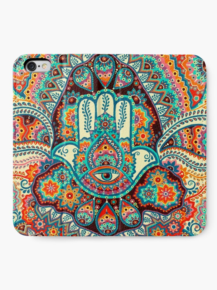 Alternate view of Hamsa Hand iPhone Wallet