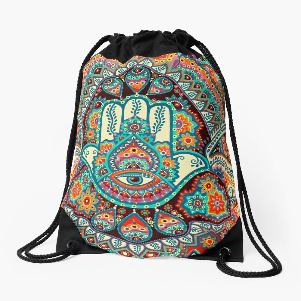 Hamsa Hand Drawstring Bag