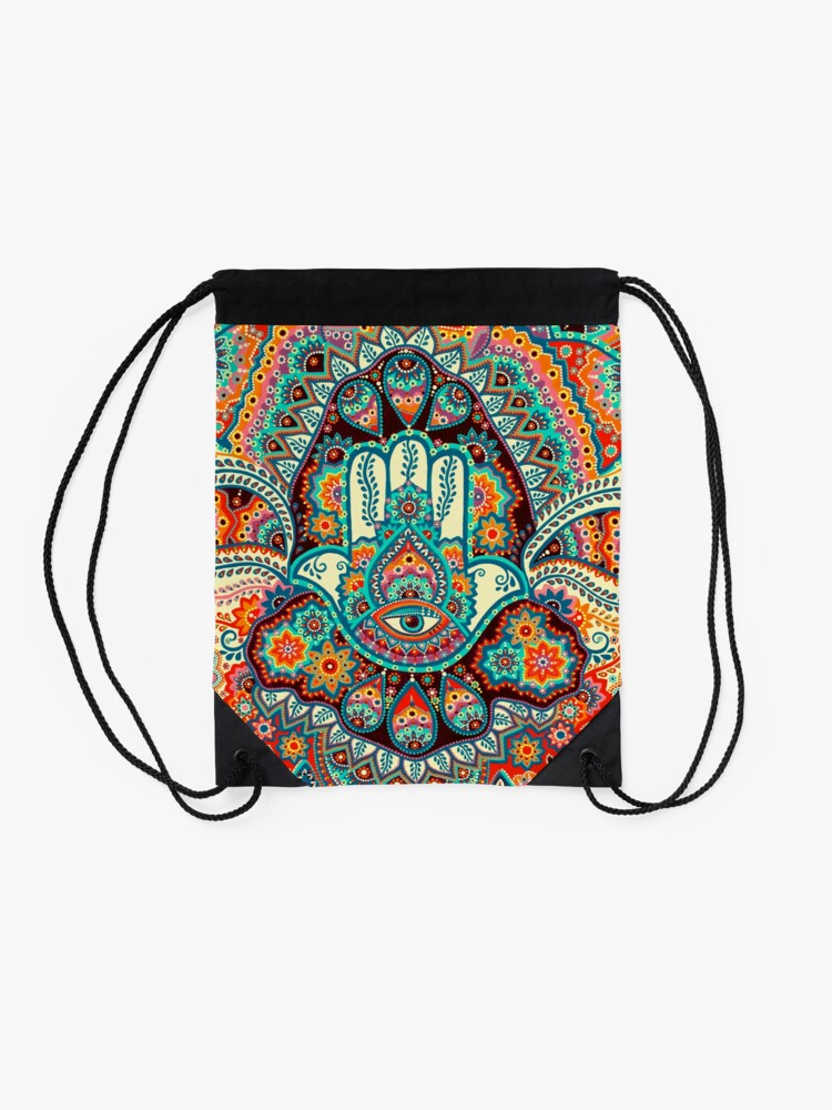 Alternate view of Hamsa Hand Drawstring Bag
